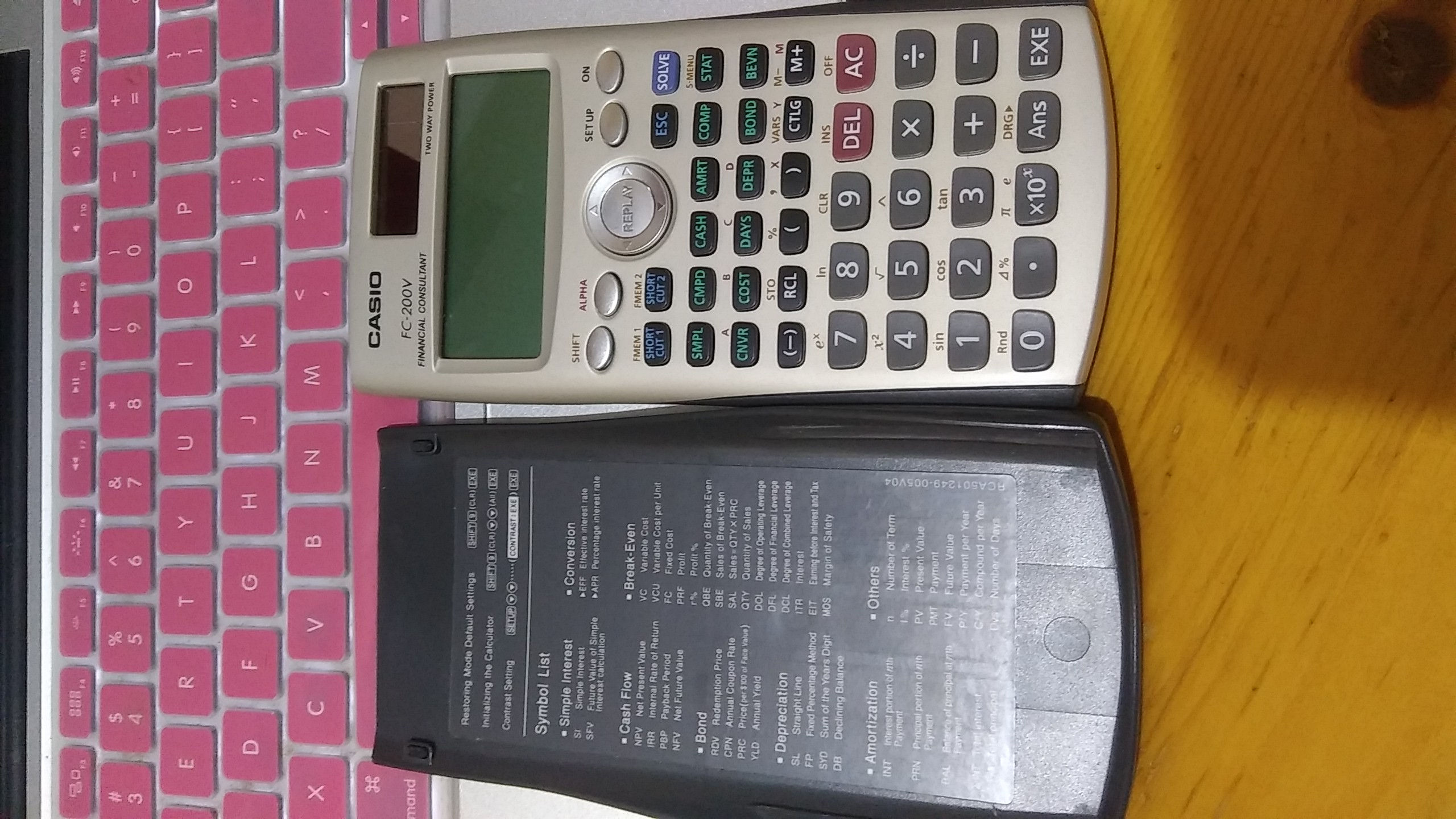 CASIO FC-200V Financial Calculator  金融計算機 image