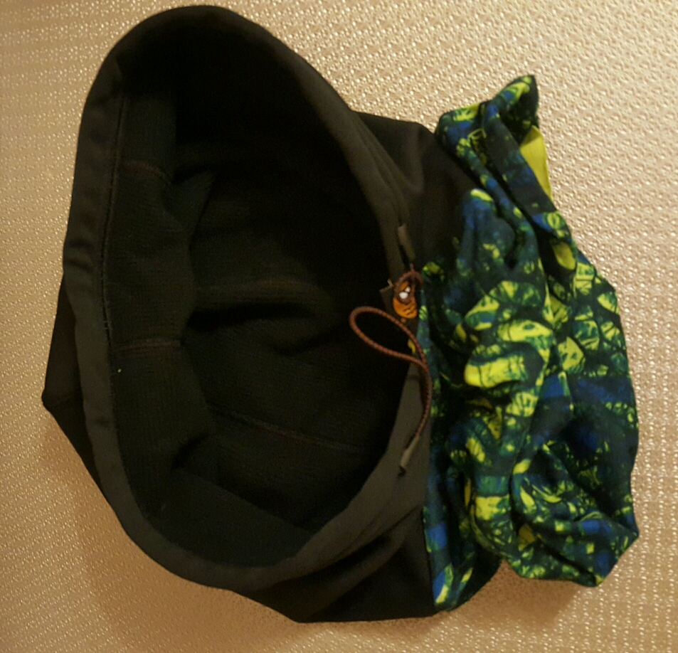 Buff neck warmer with windstopping hood image