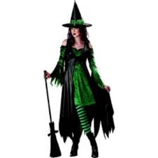 Halloween Party Costume - Emerald Witch image