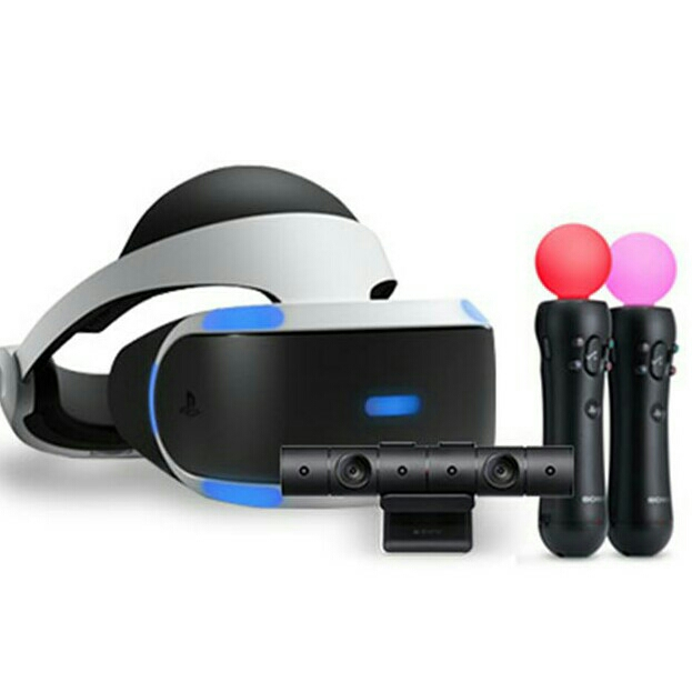 PS4 + PSVR with move camera, 2 move controller and a dualshock controller image