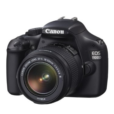 CANON 1100D DSLR camera with 18-55mm IS kit lens image