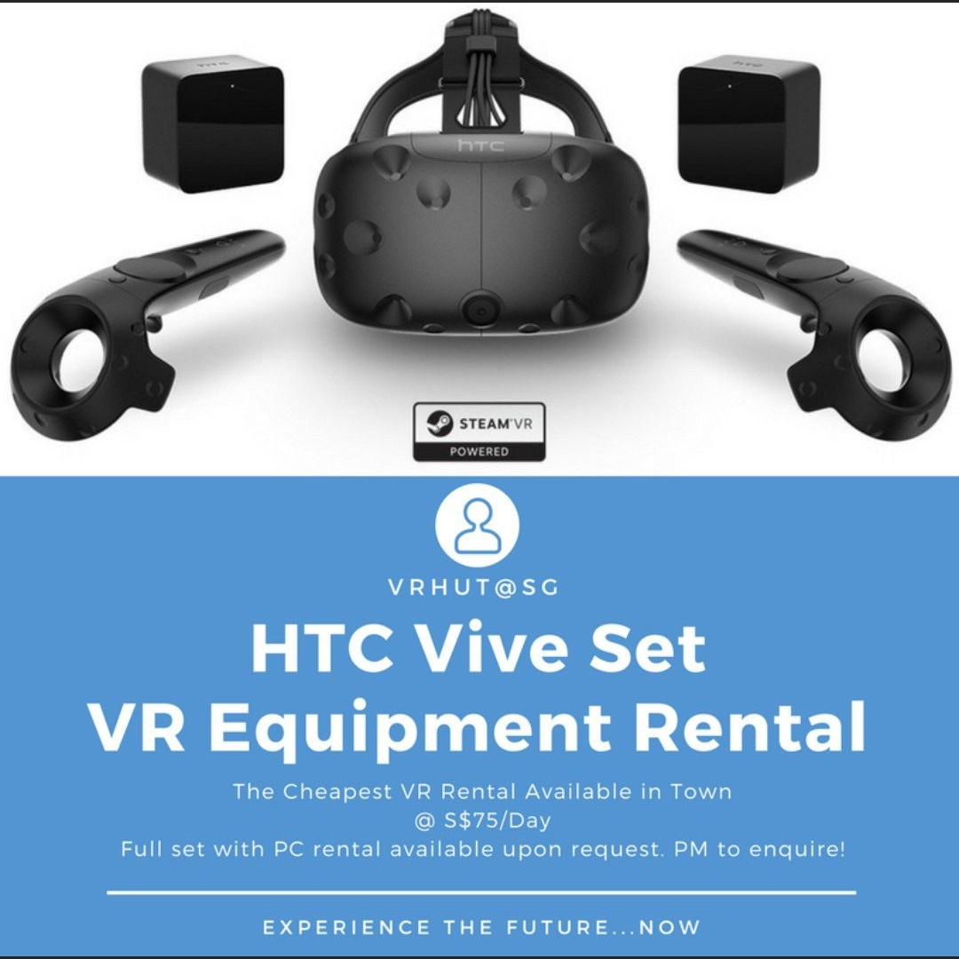 HTC Vive Set Rental (with PC and Games add-ons) image