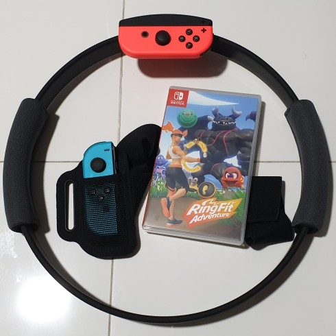 Ringfit Adventure Game, ring and strap image