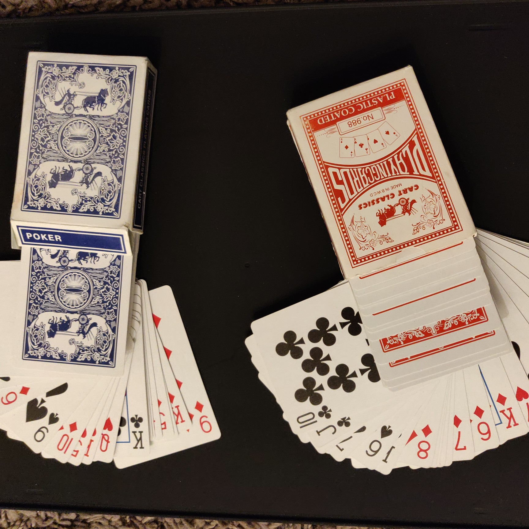 Plastic coated playing cards per set image