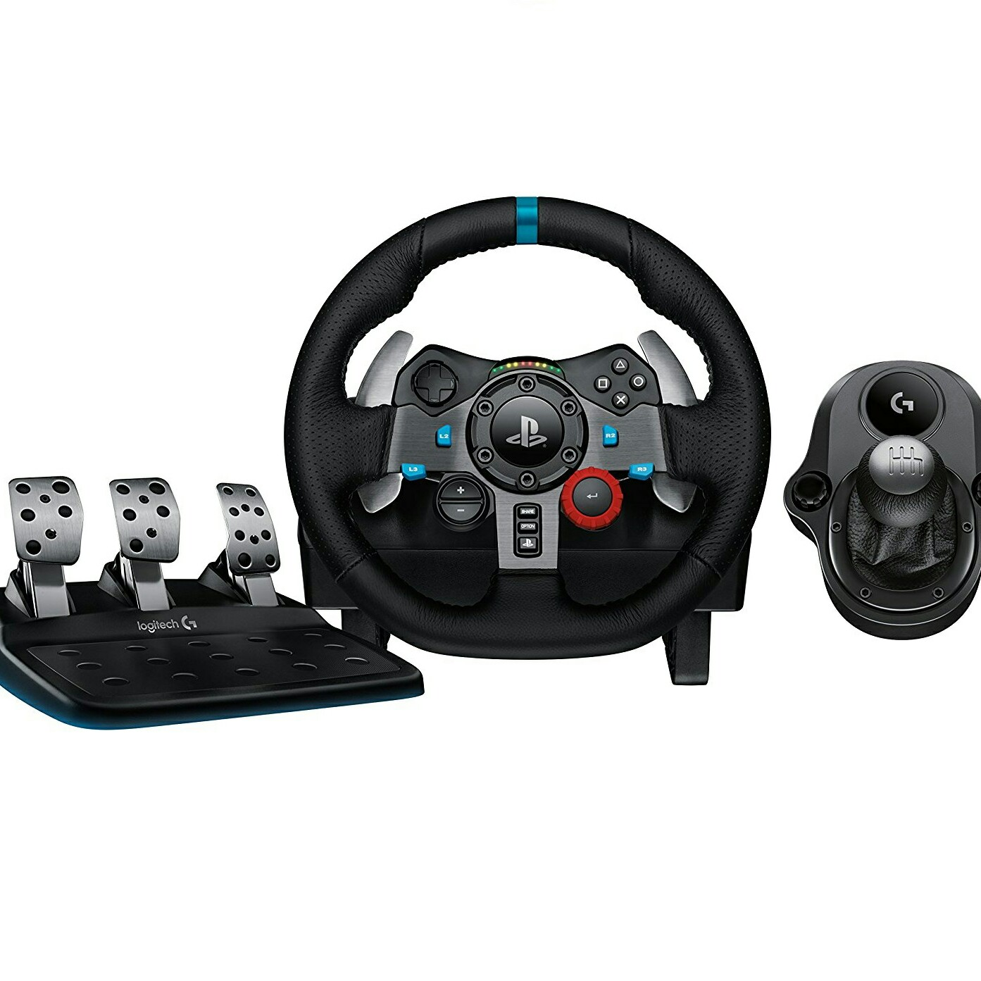 Logitech G29 driving force race wheel+G driving force shifter image