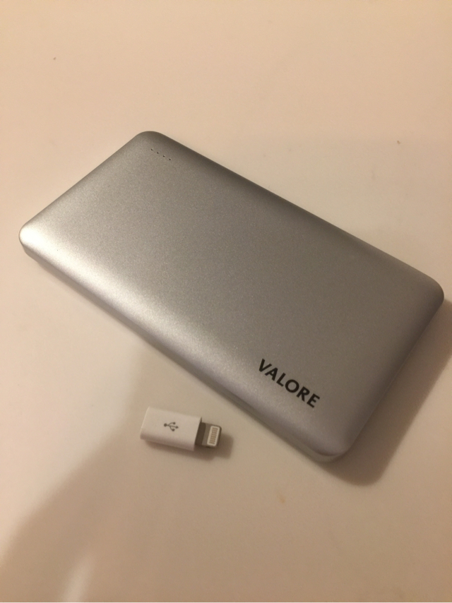 Valore external battery 6000 mAh w/ iPhone adapter image